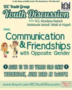 Youth Discussion - Communication and Friendship